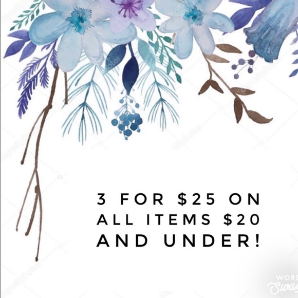 Other - 3 for $25 all items $25 and under!